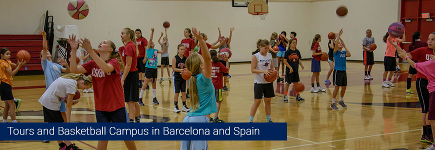 Basketball tours and summer camps 2016 kids barcelona