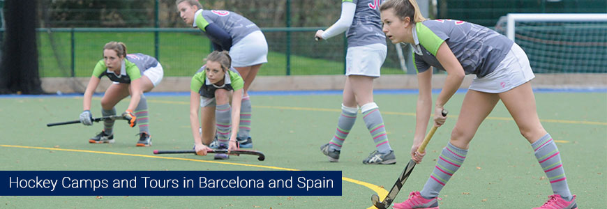 Hockey summer camps for kid girls europe cheap barcelona spain