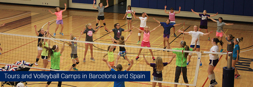 Volleyboll summer camps 2016 tours barcelona and spain sports