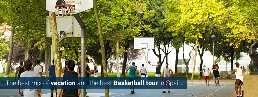 basketball tours camps summer kids boys girls low cost europe barcelona madrid