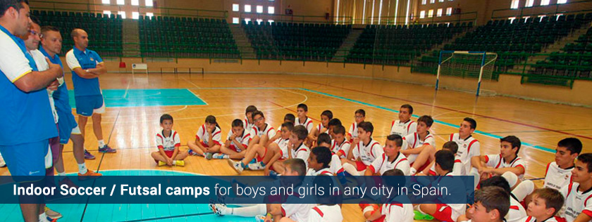futsal soccer indoor summer camps tours kids boys girls spain europe